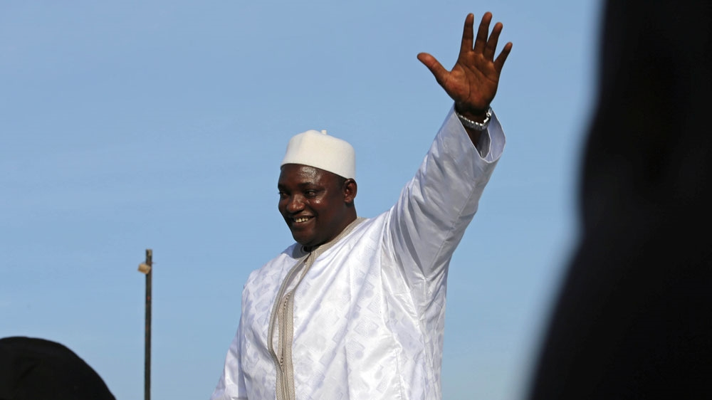 Barrow was inaugurated at the Gambian embassy in neighbouring Senegal [Afolabi Sotunde/Reuters]