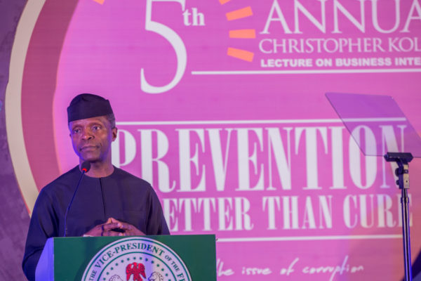 Osinbajo addresses the gathering