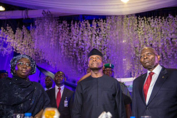Osinbajo with Kolade and Adebule