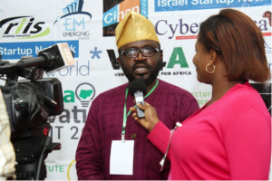 Bankole Oloruntoba, Founder, Enspire Incubator during interview with the press at the Summit