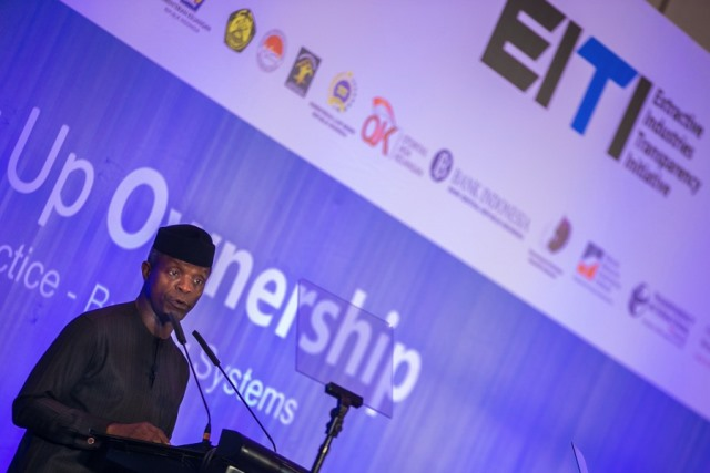 Osinbajo at EITI conference on tackling corporate secrecy