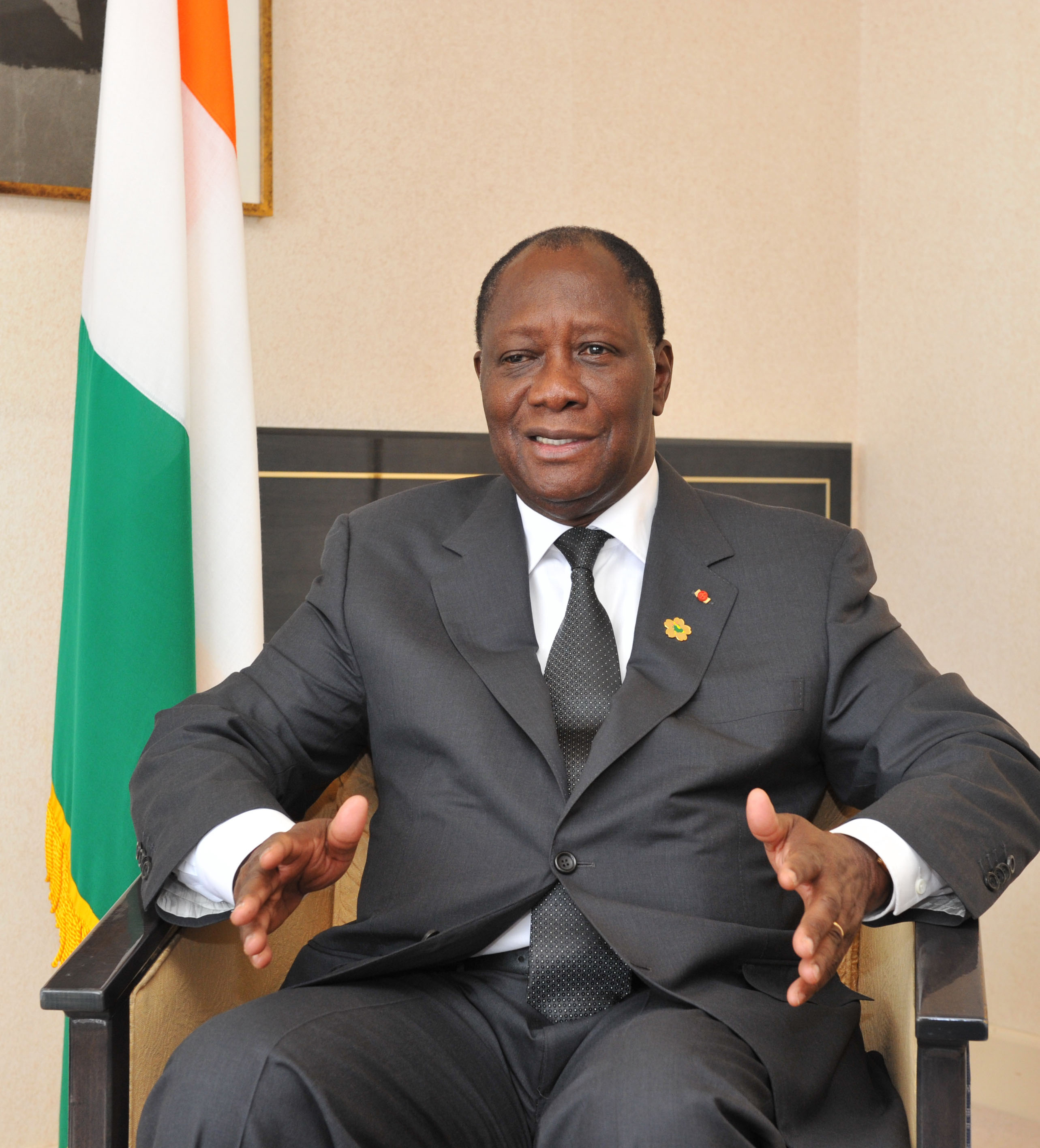 Mlassane Ouattara, President of Cote d'lvoire