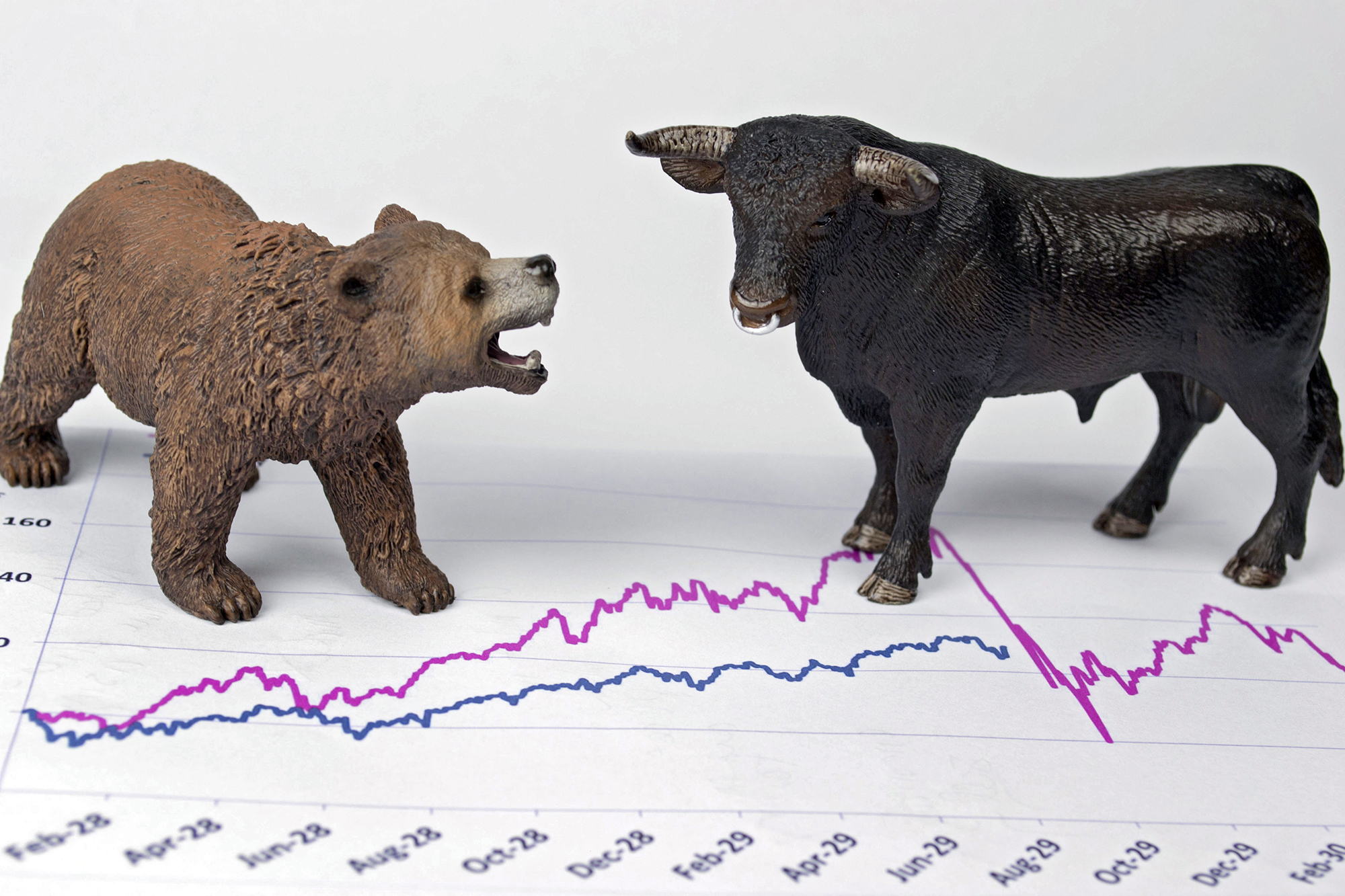Bull and Bear, Stock Market Symbols