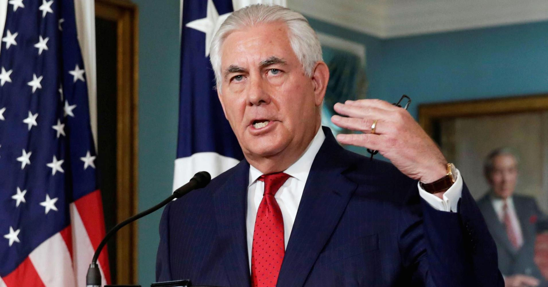 US Secretary of State; Rex Tillerson