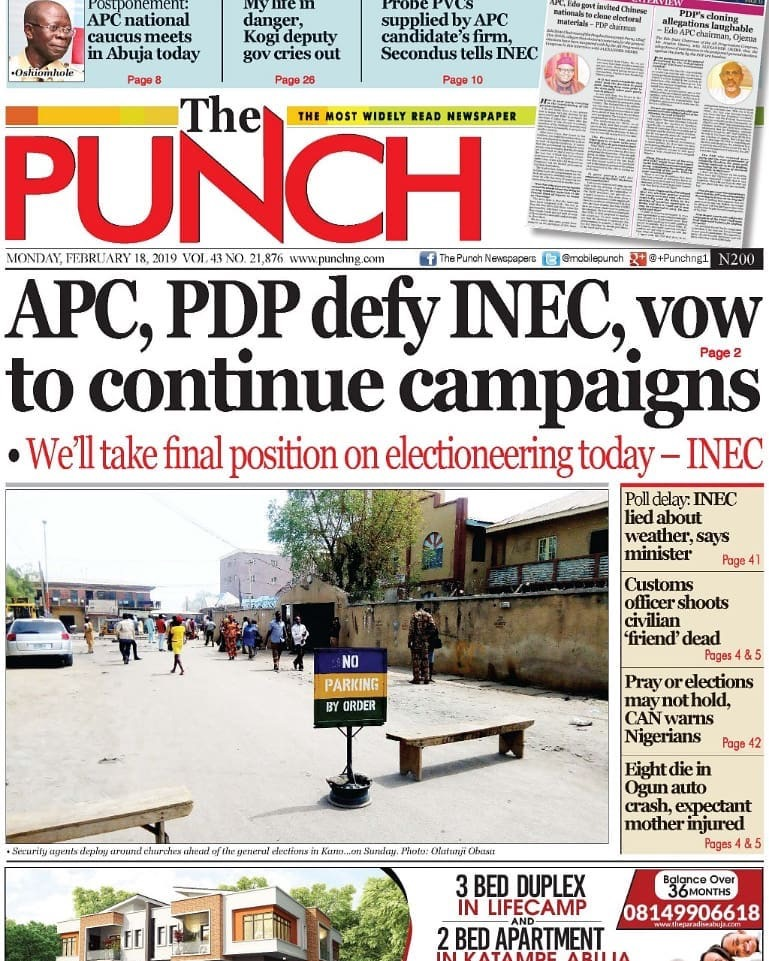 INEC, election, Campaigns