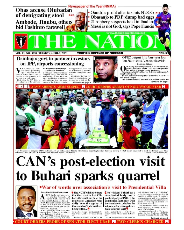 CAN's post-election visit to Buhari