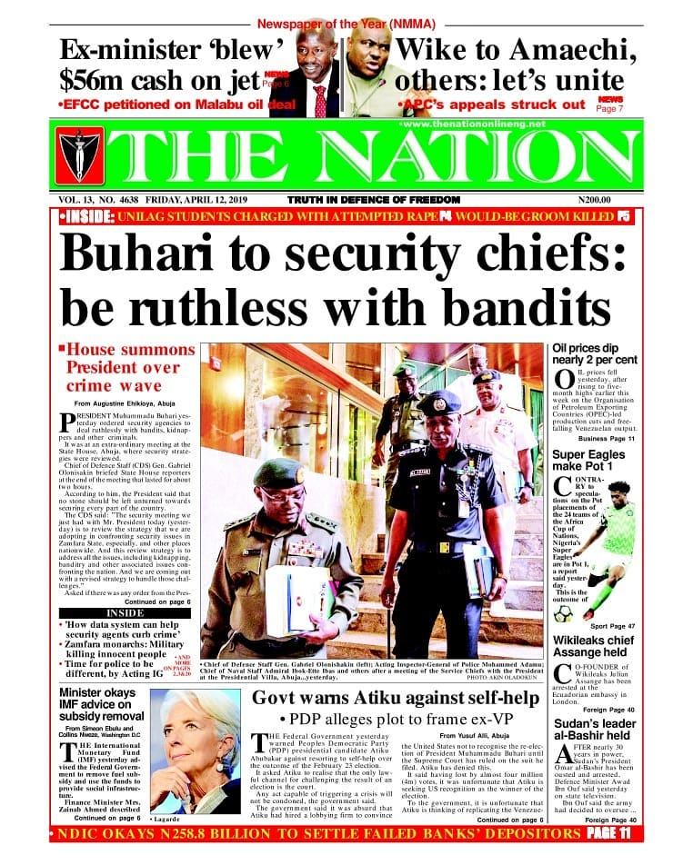 Buhari to security chiefs
