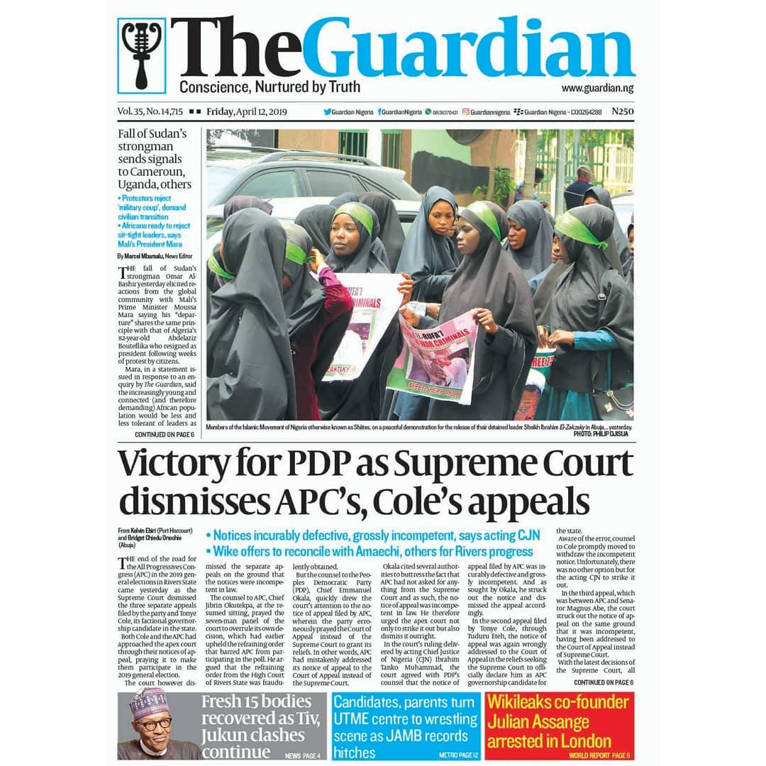 Victory for PDP as Supreme Court dismisses