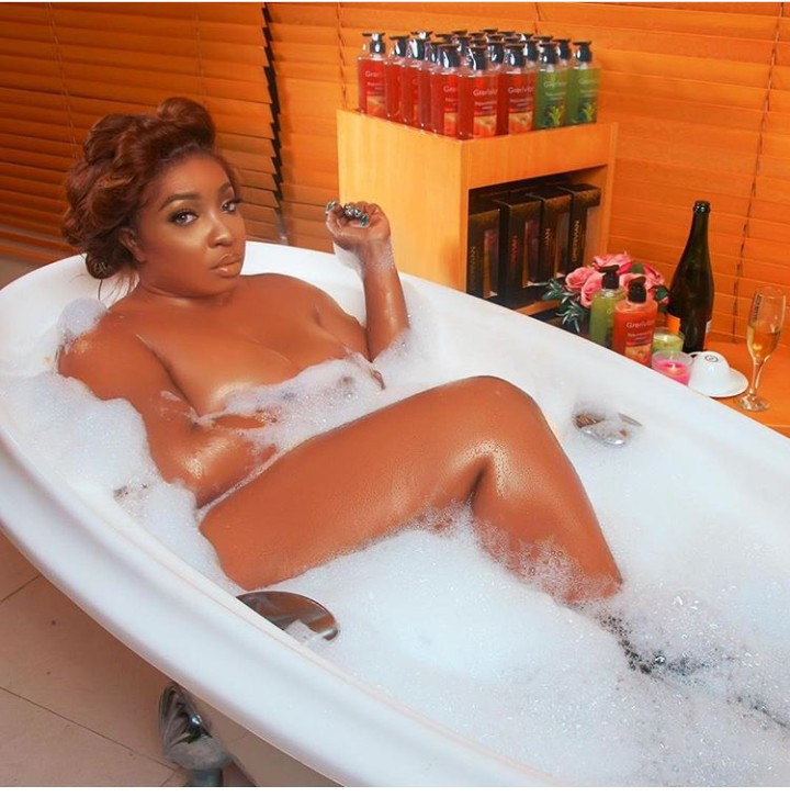 See Anita Joseph as she goes nude again for bathtub photoshoot