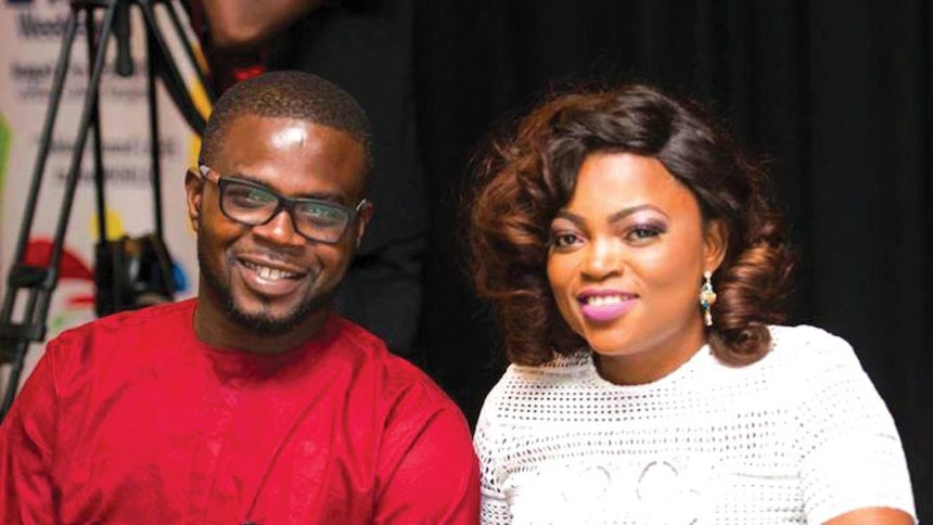 Funke Akindele celebrates with her twins on Mother's day