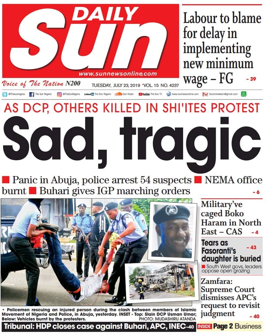 Nigerian Newspapers Headlines (23rd July, 2019) - Market ...