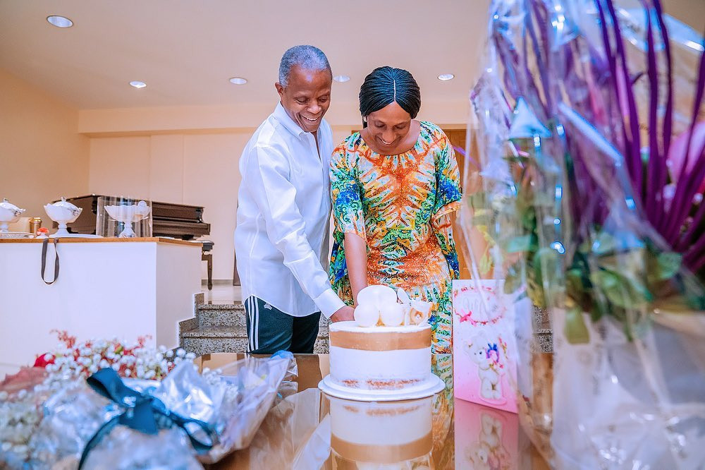 Yemi Osinbajo celebrates his wife
