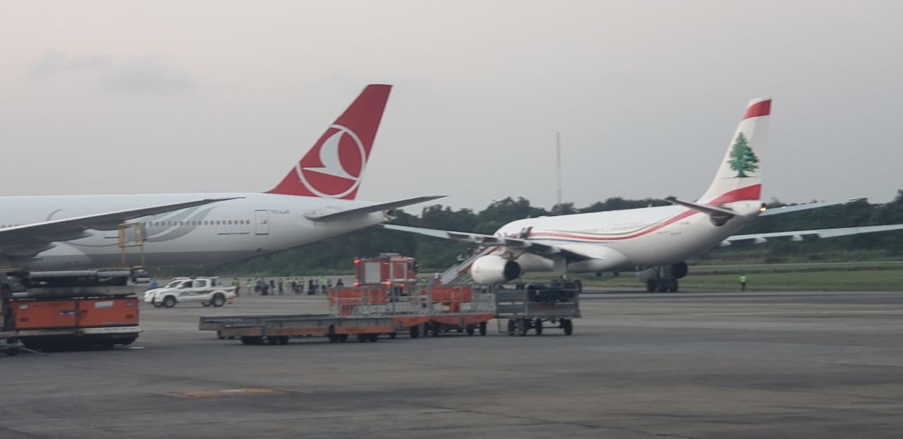 Two aircraft collide at Lagos airport